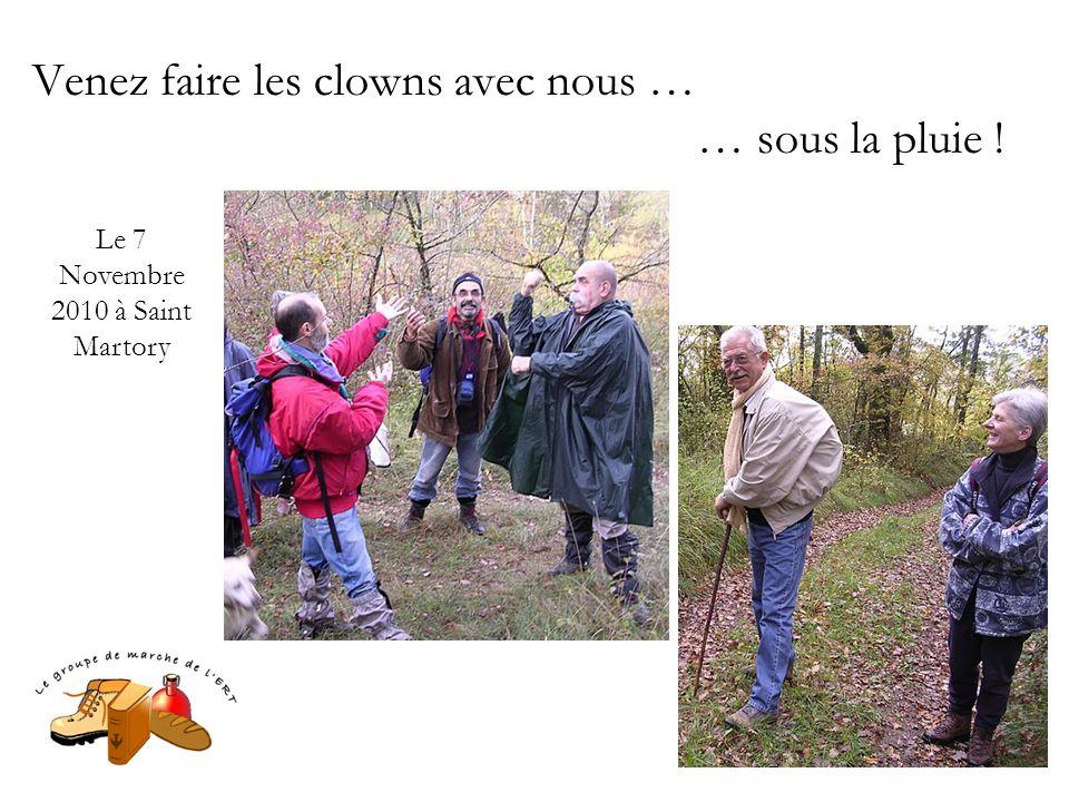 Venez faire les clowns avec nous … … sous la pluie ! Le 7 Novembre 2010 à Saint Martory