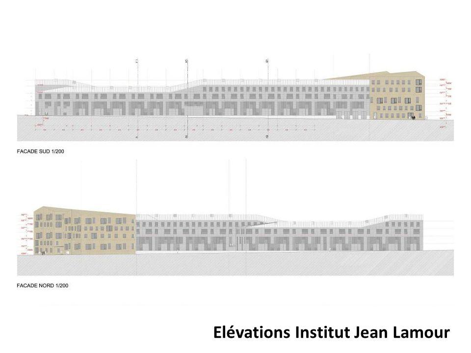 Elévations Institut Jean Lamour