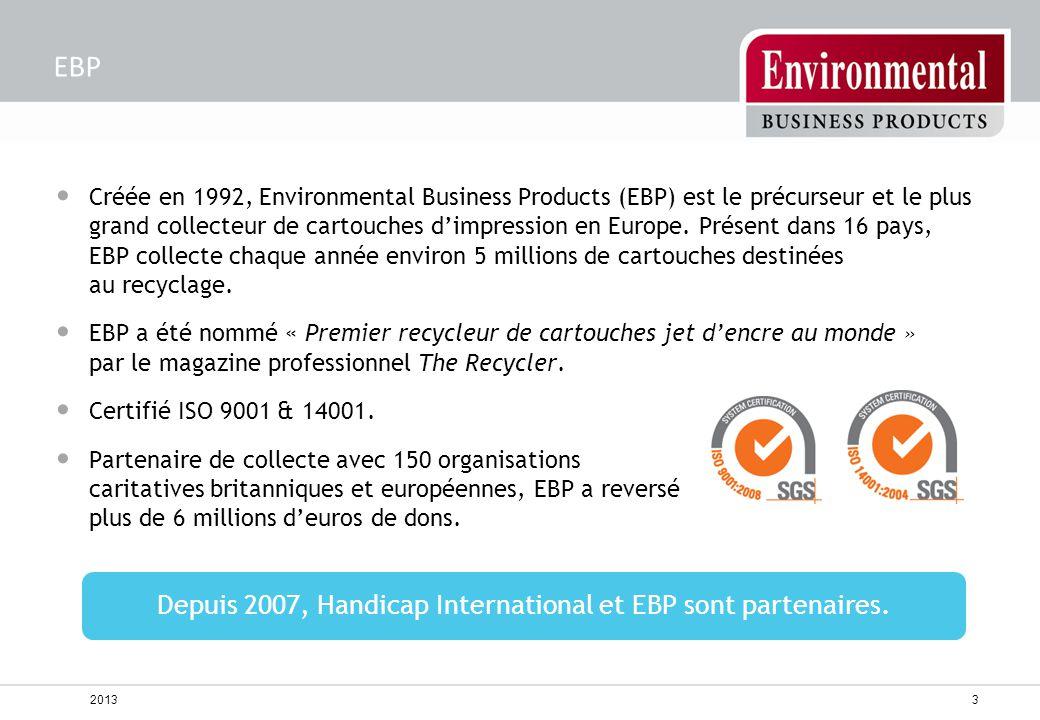 Créée en 1992, Environmental Business Products (EBP) est le précurseur et le plus grand collecteur de cartouches d'impression en Europe. Présent dans