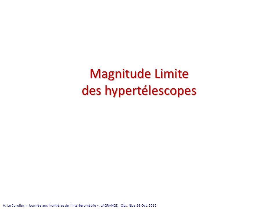 Magnitude Limite des hypertélescopes H.