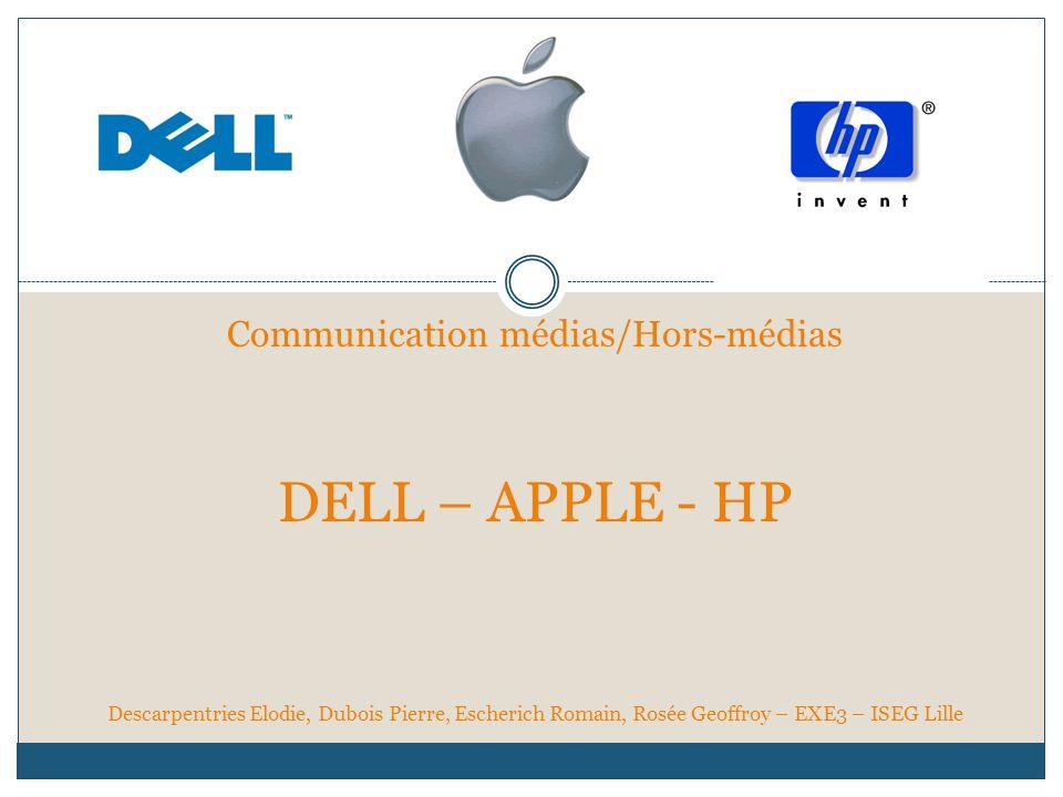Communication médias/Hors-médias DELL – APPLE - HP Descarpentries Elodie, Dubois Pierre, Escherich Romain, Rosée Geoffroy – EXE3 – ISEG Lille