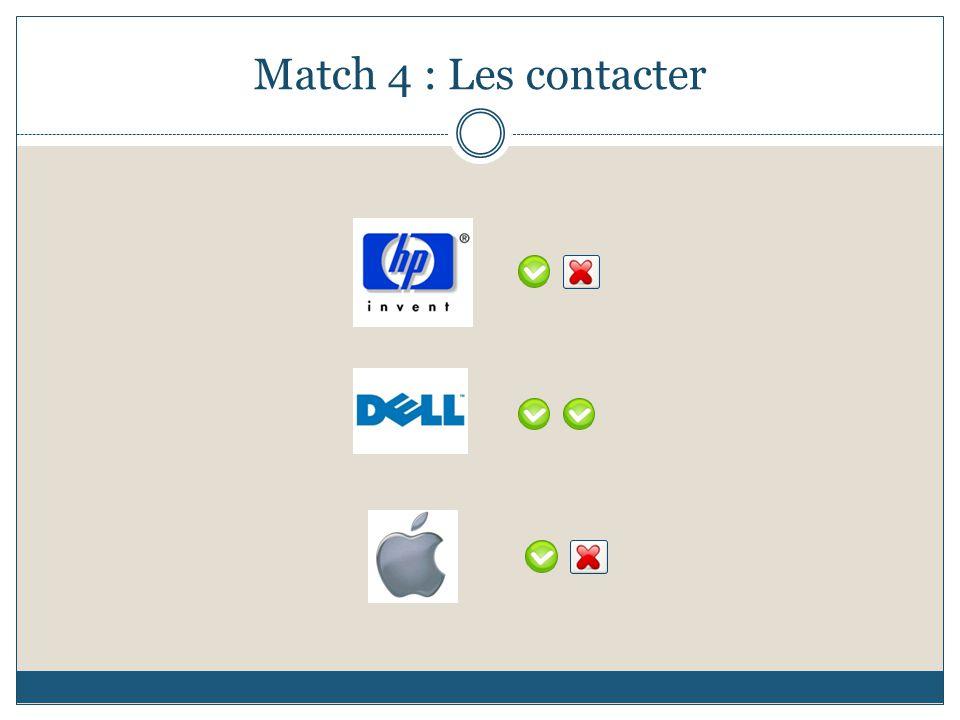 Match 4 : Les contacter