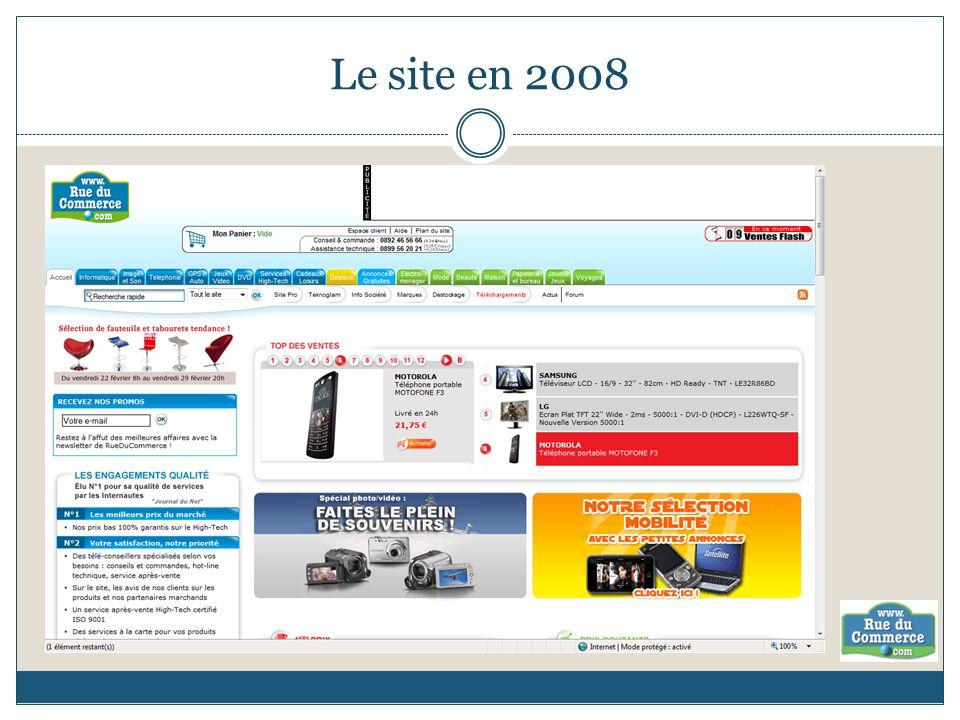 Le site en 2008