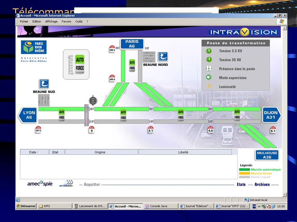 Télécommande / Télécontrole Avantages: - Technologie utilisant les câbles de puissance pour les transmissions de données - En cas de défaut réseau, retour immédiat de l'information -Supervision global de la HTI jusqu'à la lampe -Principe d'un installation inter active STEP: Système de Télécommande pour Eclairage Public utilisant le courant porteur Concept : - Allumage & Extinction de l'éclairage sur un réseau sous tension permanente - Energie HTI disponible H24 pour autres applications (ventilation, vidéo, PMV,pompes,… ) - Analyse permanente du réseau (lampes, tfo, cable, … ) PUBLIC LIGHTING REMOTE CONTROL MV Panel Modem By pass Transmitter Télécom.