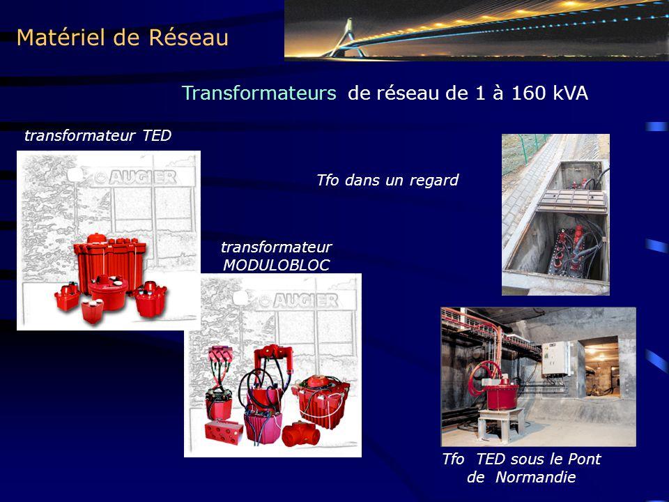 Matériel de Réseau Transformateurs de réseau de 1 à 160 kVA transformateur TED Tfo dans un regard Tfo TED sous le Pont de Normandie transformateur MOD
