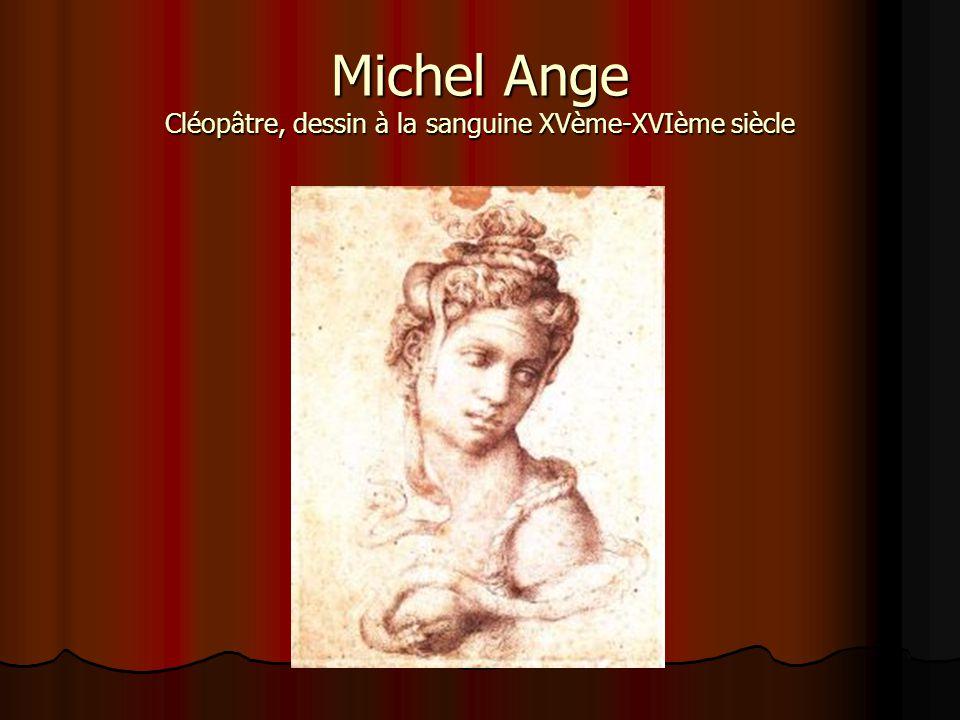 Michel Ange Cléopâtre, dessin à la sanguine XVème-XVIème siècle