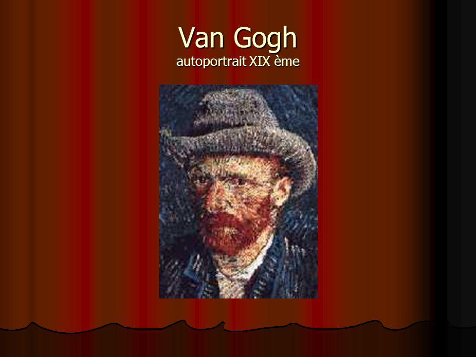 Van Gogh autoportrait XIX ème