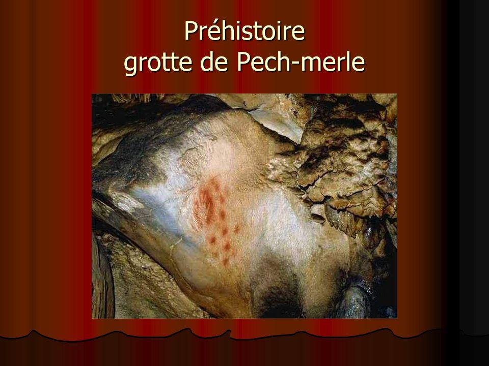 Préhistoire grotte de Pech-merle