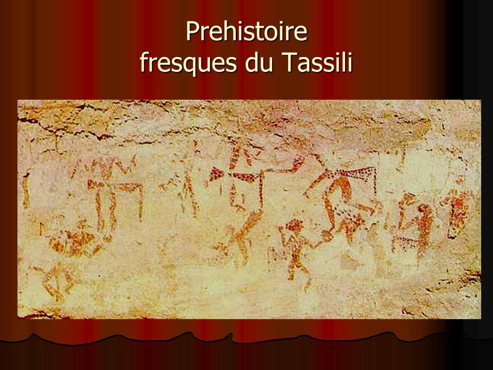 Prehistoire fresques du Tassili