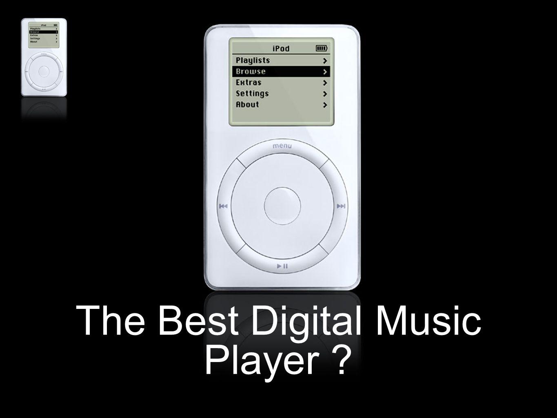iPod : le produit Lecteur MP3 (pas de vidéo) de très grande capacité mémoire Design particulier (Design Apple 2000) Grande gamme d'accessoires Compatible avec les OS Windows