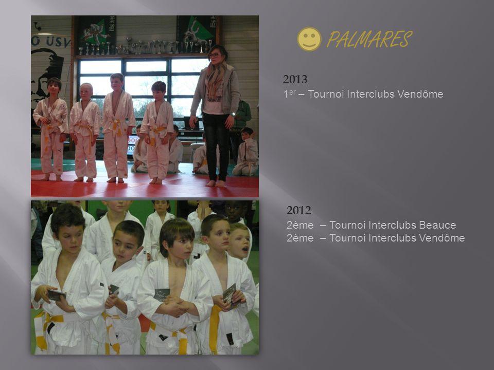 PALMARES 2013 1 er – Tournoi Interclubs Vendôme 2012 2ème – Tournoi Interclubs Beauce 2ème – Tournoi Interclubs Vendôme