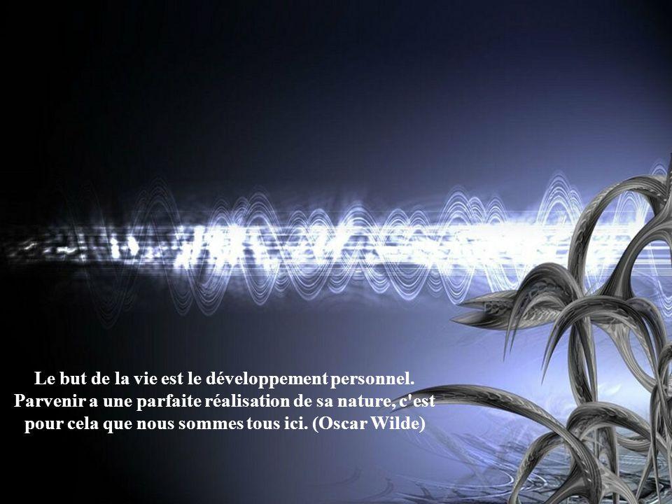 Le but de la vie est le développement personnel. Parvenir a une parfaite réalisation de sa nature, c'est pour cela que nous sommes tous ici. (Oscar Wi