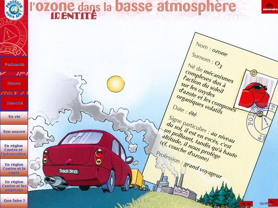 Polluants Ozone Quitter En région Centre et les végétaux En région Centre et les végétaux Que faire ? Que faire ? En région Centre et la santé En régi
