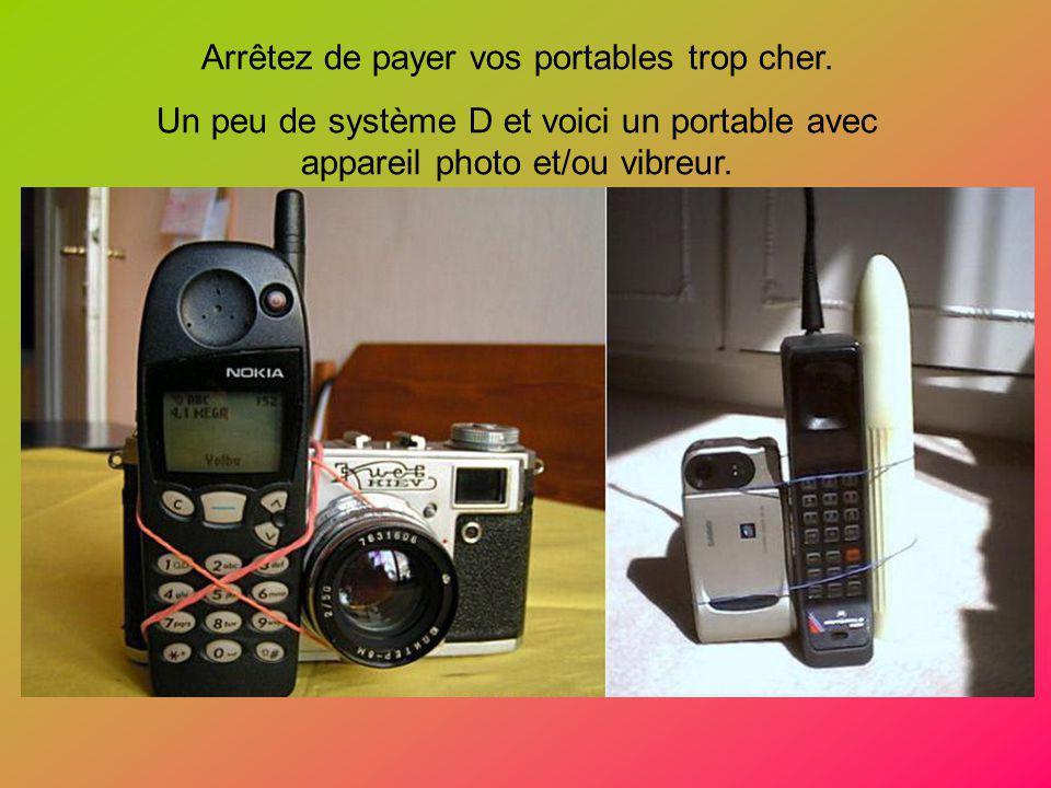 Arrêtez de payer vos portables trop cher. Un peu de système D et voici un portable avec appareil photo et/ou vibreur.