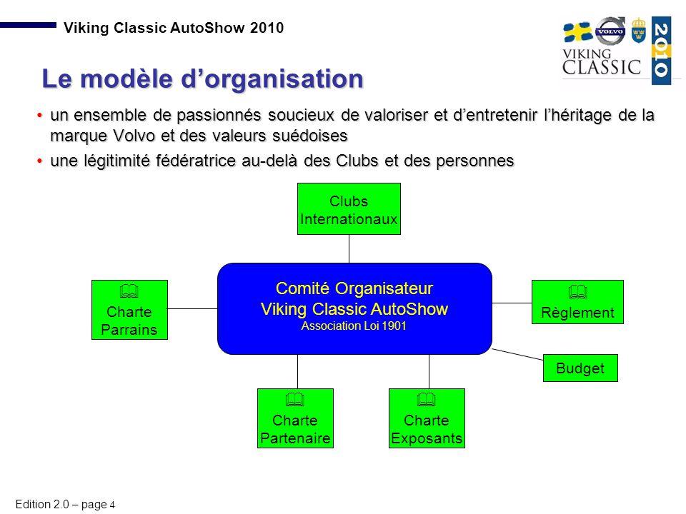 Edition 2.0 – page 4 Viking Classic AutoShow 2010 un ensemble de passionnés soucieux de valoriser et d'entretenir l'héritage de la marque Volvo et des