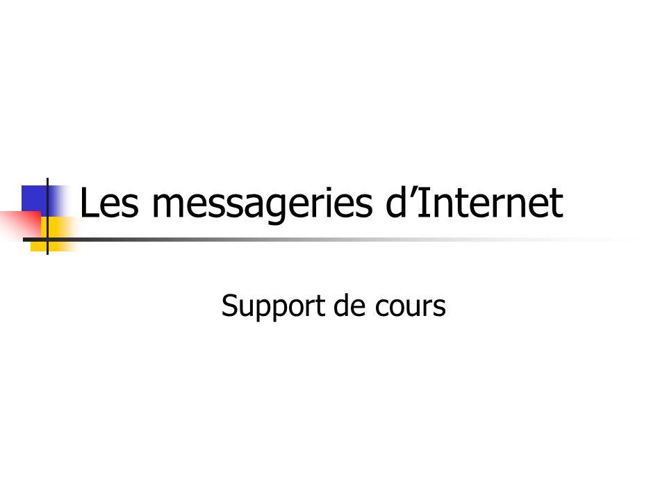 2 La messagerie : Depuis la création d'Internet, une nouvelle forme de communication est apparue : La messagerie.