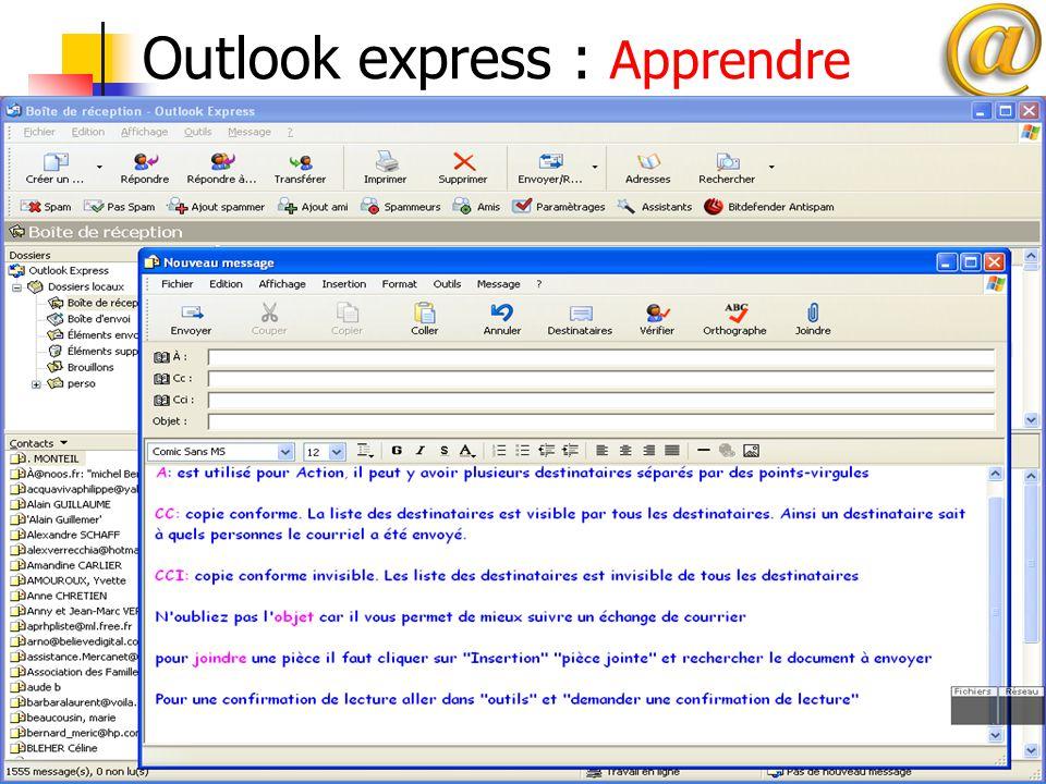 13 Outlook express : Apprendre