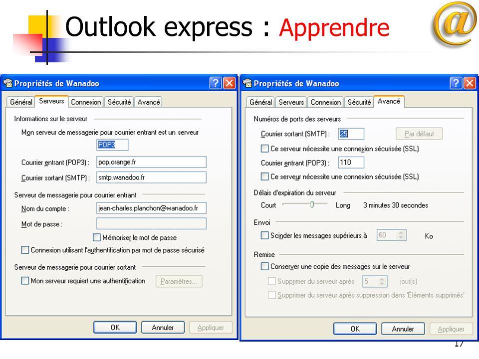 17 Outlook express : Apprendre