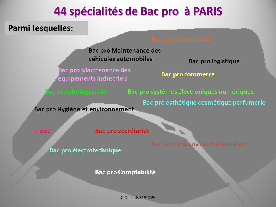 Bac pro commerce Bac pro logistique Bac pro Comptabilité Bac pro secrétariat Bac pro esthétique cosmétique parfumerie Bac pro Restauration Bac pro Mai