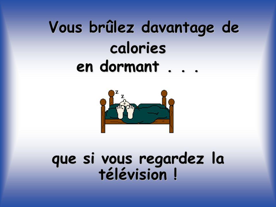 Vous brûlez davantage de calories en dormant... que si vous regardez la télévision !