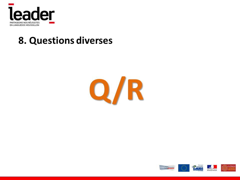 8. Questions diversesQ/R