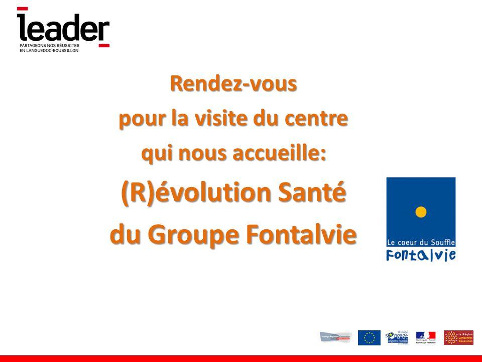 Rendez-vous pour la visite du centre qui nous accueille: (R)évolution Santé du Groupe Fontalvie