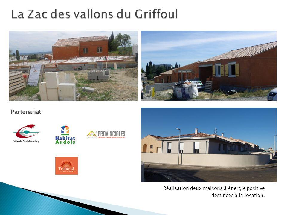 Réalisation deux maisons à énergie positive destinées à la location. Partenariat