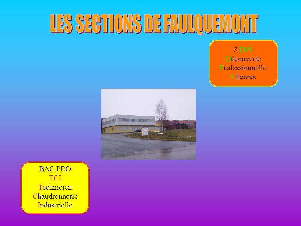 BAC PRO TCI Technicien Chaudronnerie Industrielle 3 DP6 Découverte Professionnelle 6 heures