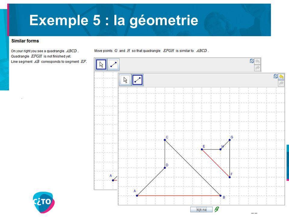 Exemple 5 : la géometrie 22