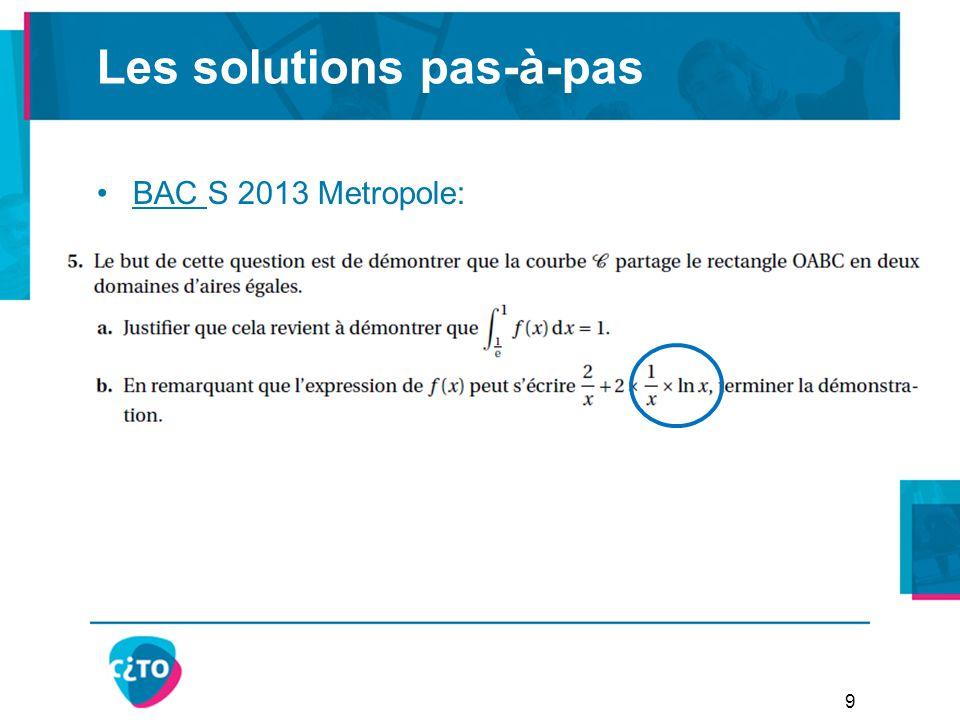Les solutions pas-à-pas BAC S 2013 Metropole:BAC 9