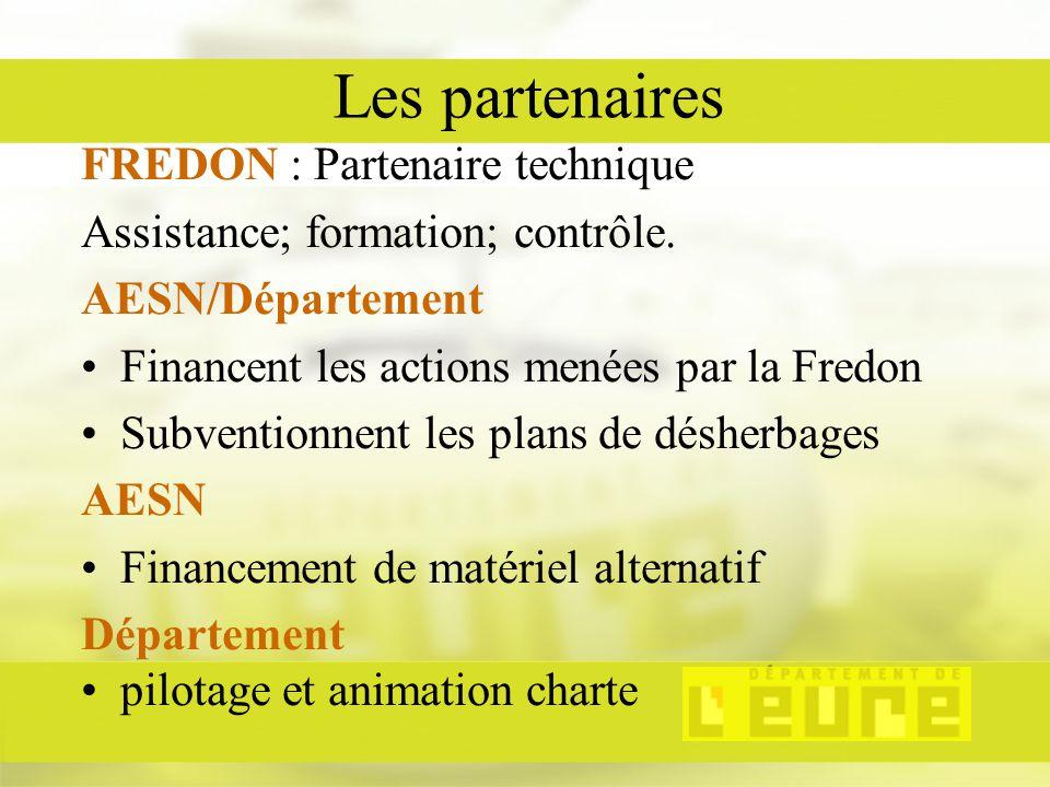 Les partenaires FREDON : Partenaire technique Assistance; formation; contrôle.