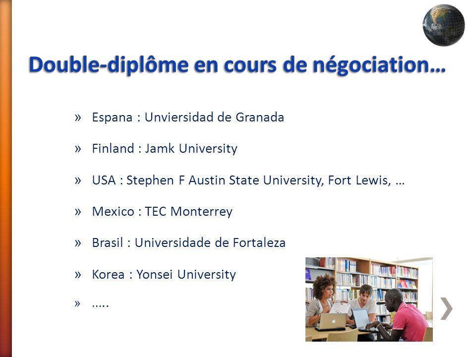 » Espana : Unviersidad de Granada » Finland : Jamk University » USA : Stephen F Austin State University, Fort Lewis, … » Mexico : TEC Monterrey » Bras