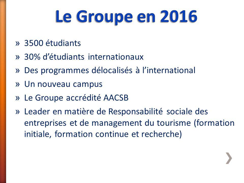 » 3500 étudiants » 30% d'étudiants internationaux » Des programmes délocalisés à l'international » Un nouveau campus » Le Groupe accrédité AACSB » Lea