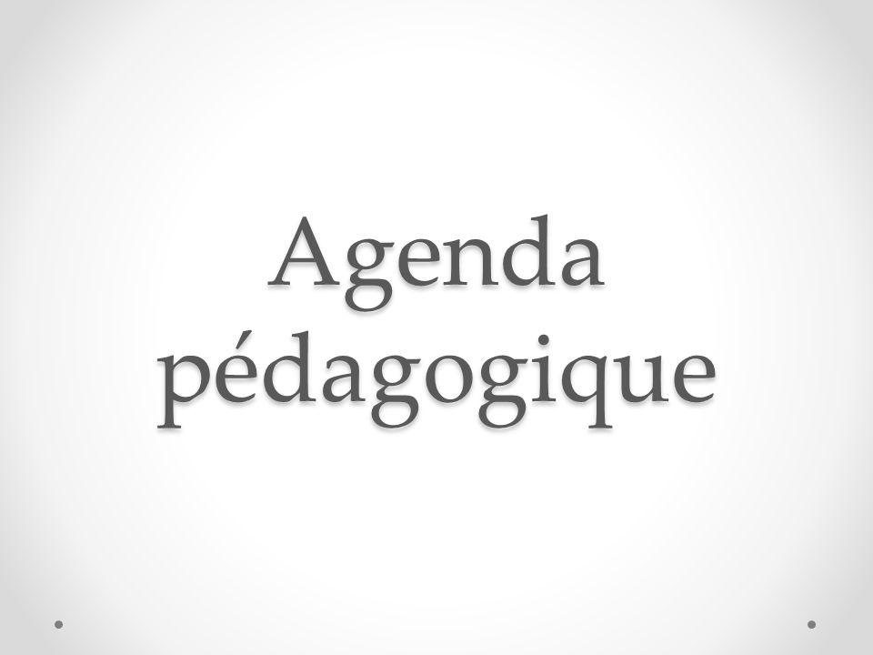 Agenda pédagogique