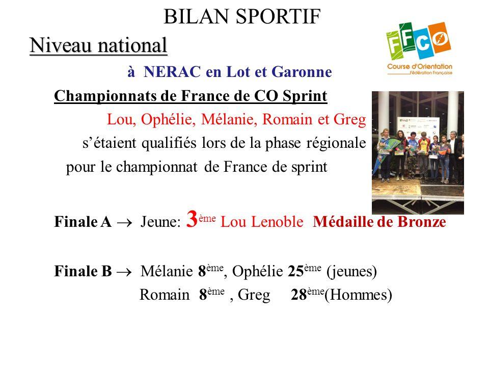 Niveau national à NERAC en Lot et Garonne Championnats de France de CO Sprint Lou, Ophélie, Mélanie, Romain et Greg s'étaient qualifiés lors de la pha