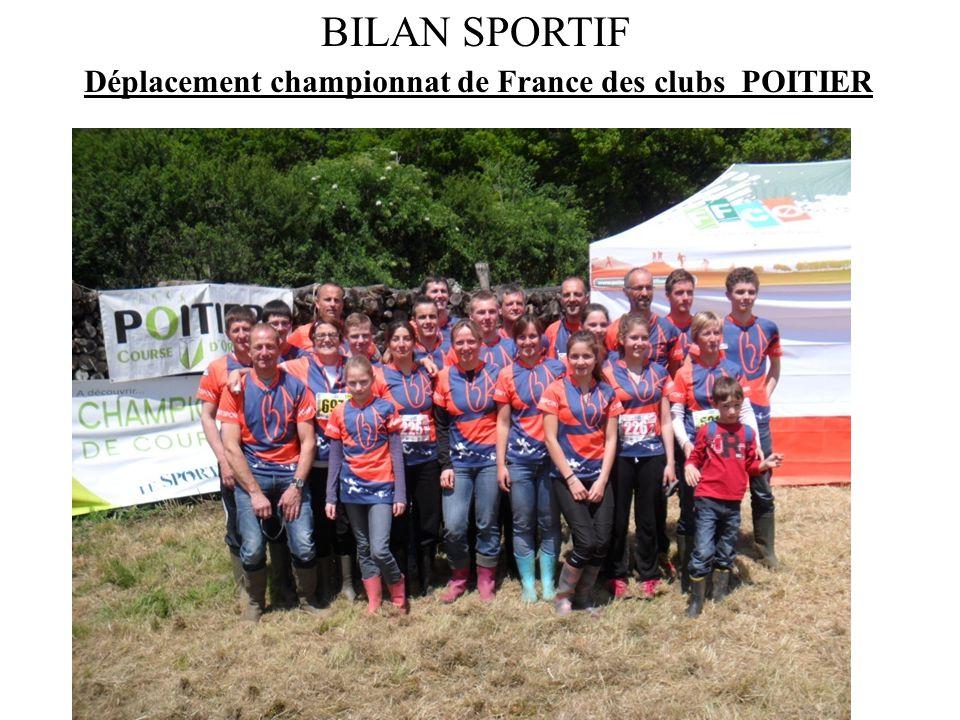Déplacement championnat de France des clubs POITIER BILAN SPORTIF