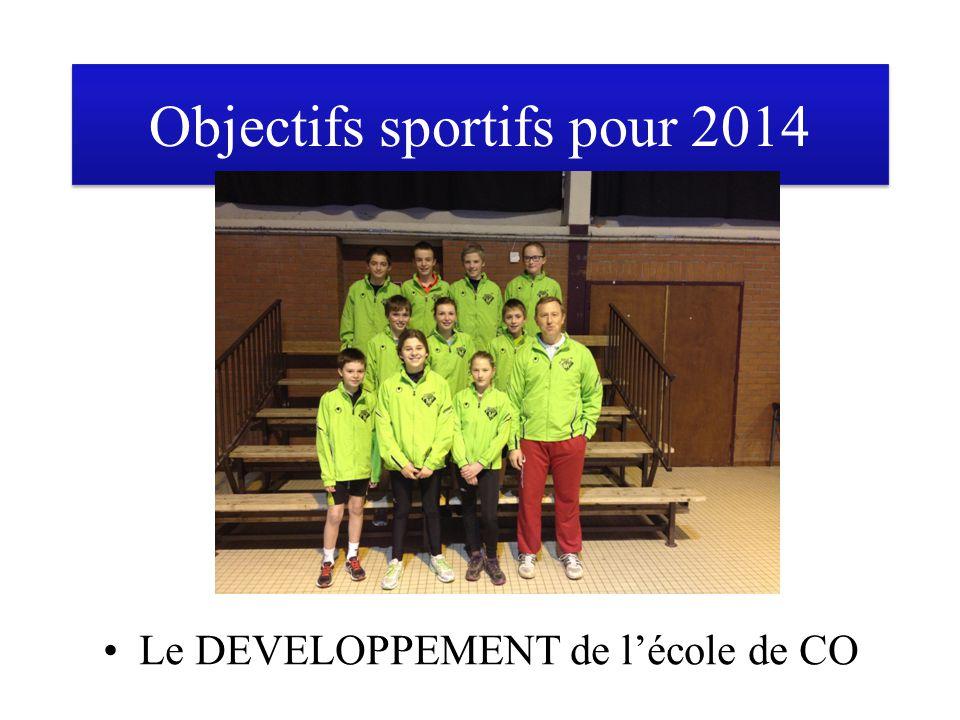 Objectifs sportifs pour 2014 Le DEVELOPPEMENT de l'école de CO