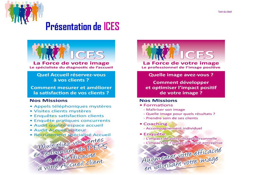 Nom du client Présentation de ICES 9