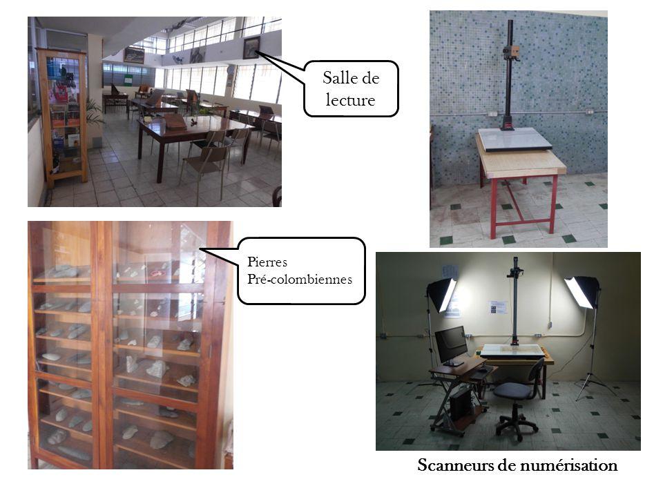 Scanneurs de numérisation Salle de lecture Pierres Pré-colombiennes