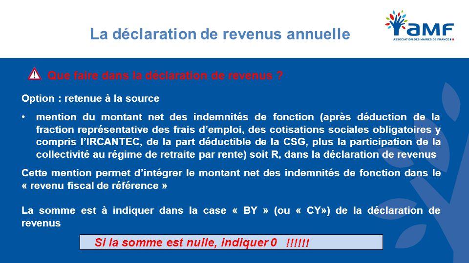 La déclaration de revenus annuelle Que faire dans la déclaration de revenus .