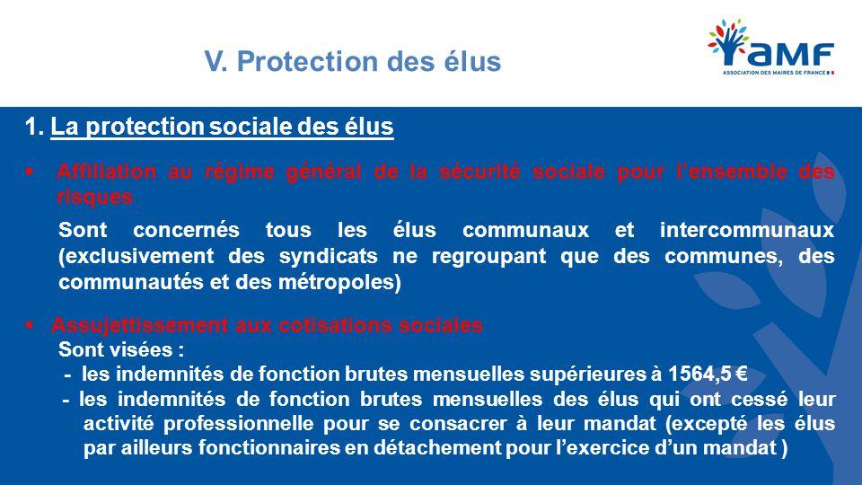 V. Protection des élus 1.