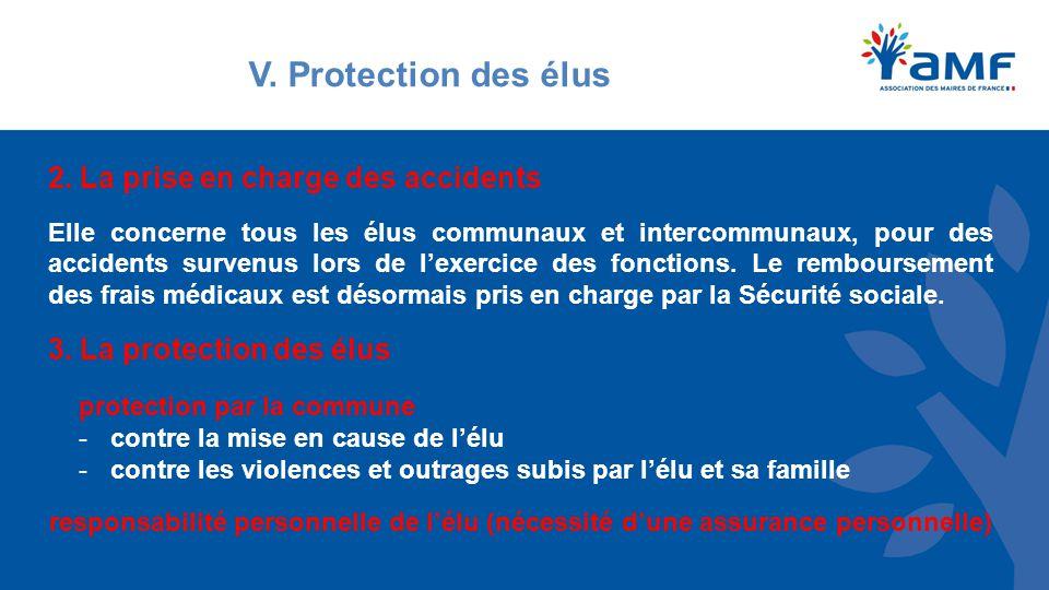V. Protection des élus 2.