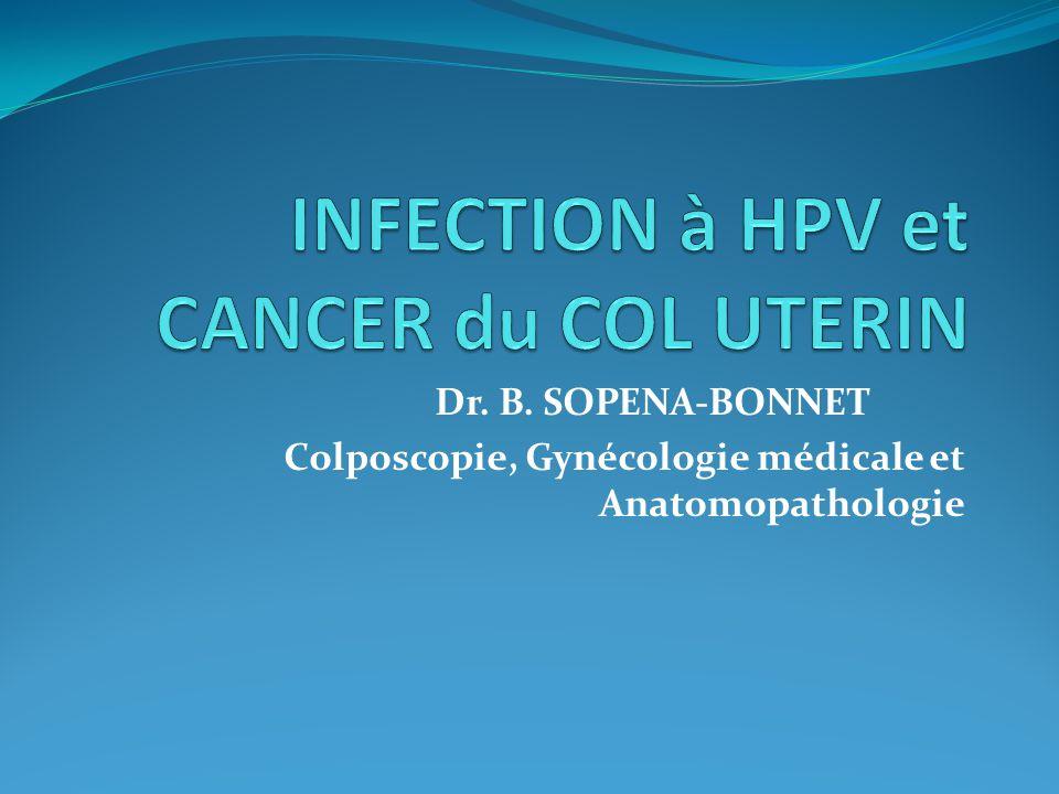 Dr. B. SOPENA-BONNET Colposcopie, Gynécologie médicale et Anatomopathologie