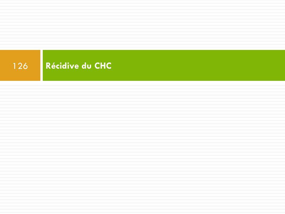 Récidive du CHC 126