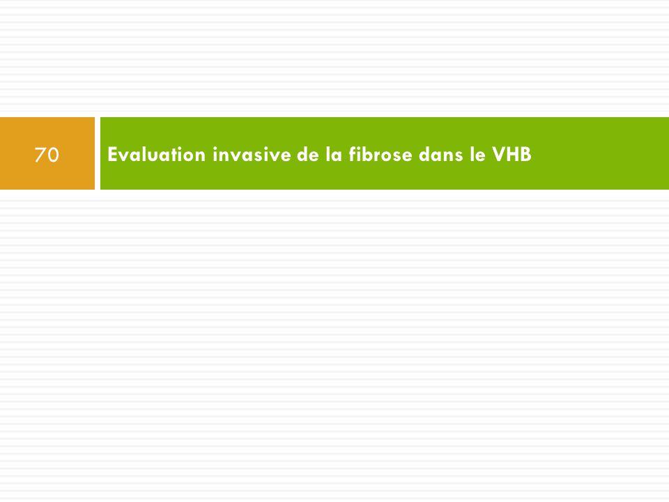 Evaluation invasive de la fibrose dans le VHB 70