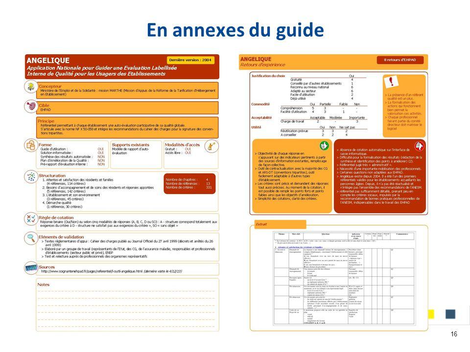 En annexes du guide 16