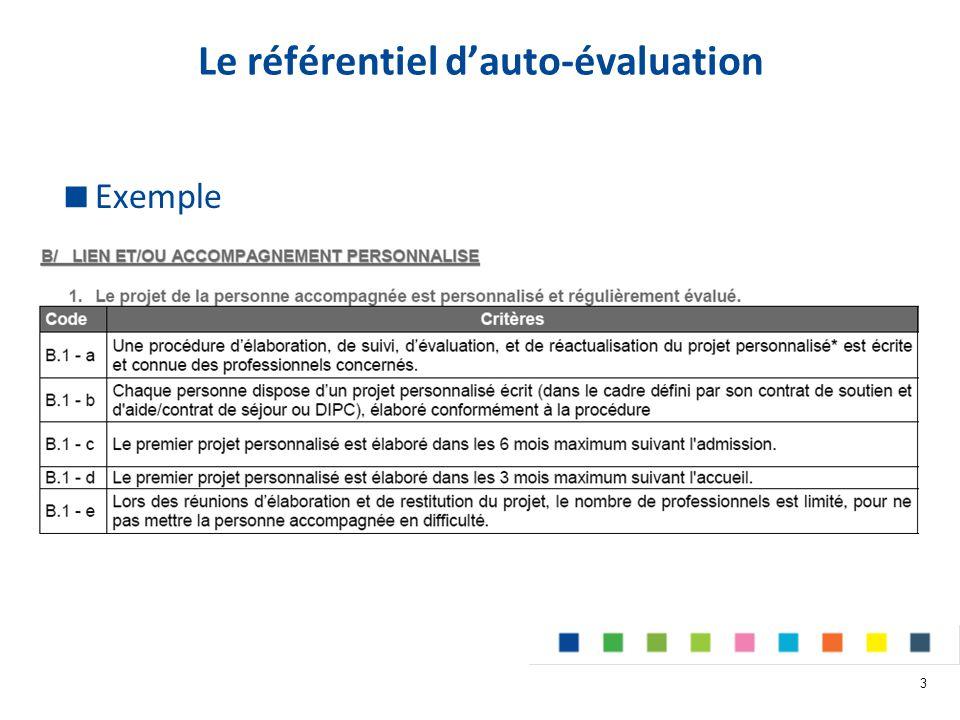 Le référentiel d'auto-évaluation 3  Exemple