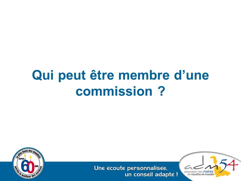 Qui peut être membre d'une commission ?