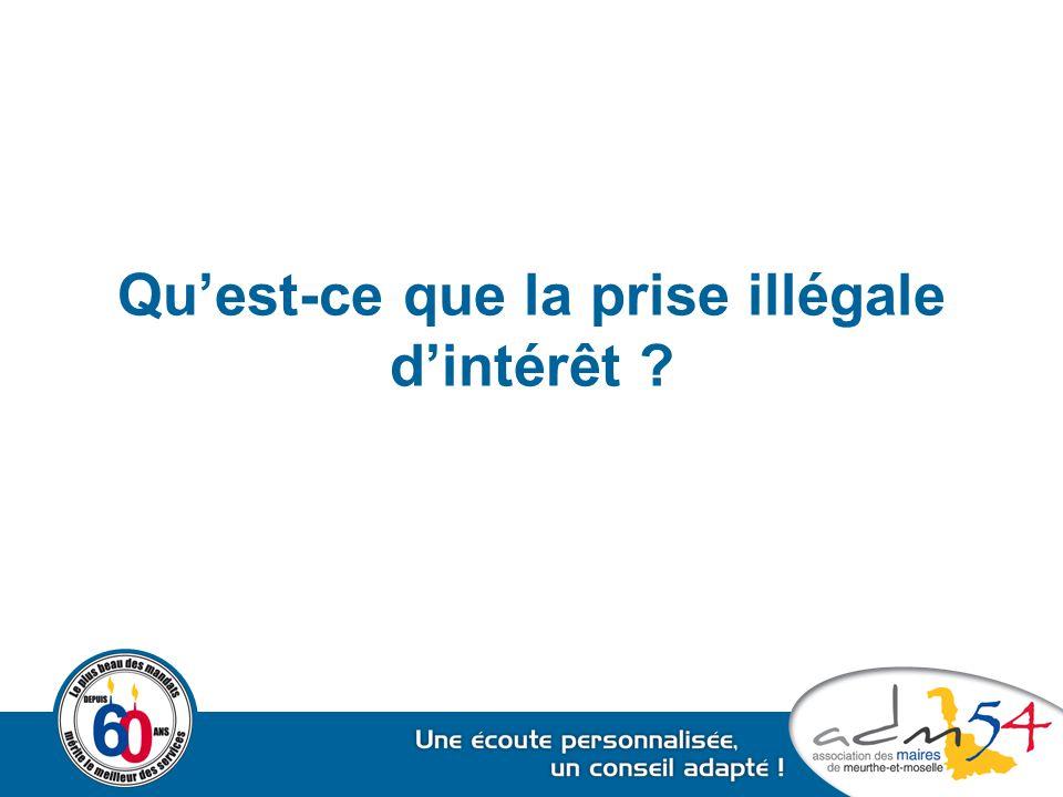 Qu'est-ce que la prise illégale d'intérêt ?