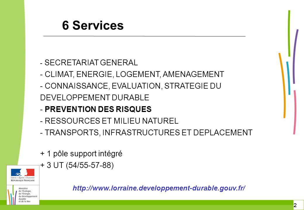 3 3 4 divisions - Risques naturels - Risques technologiques et industriels - Risques miniers et sous-sol - Impact Service prévention des risques